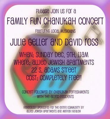 Julie Geller Chanukah concert