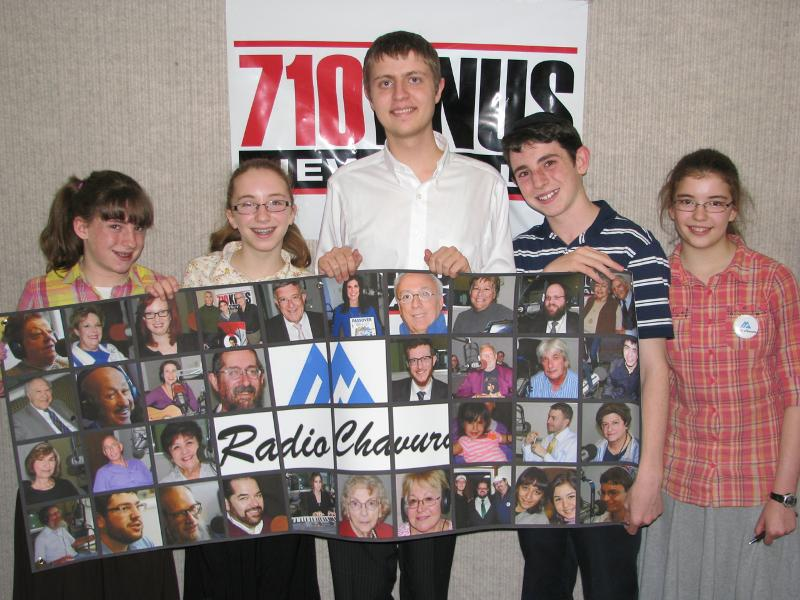4 Students, Maxwell, and Radio Chavura Banner