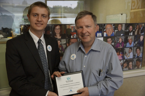 Congress Lamborn Accepts Award