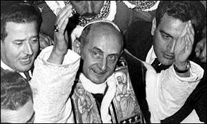 Pope Paul VI was in Israel (above) for 11 hours in 1964