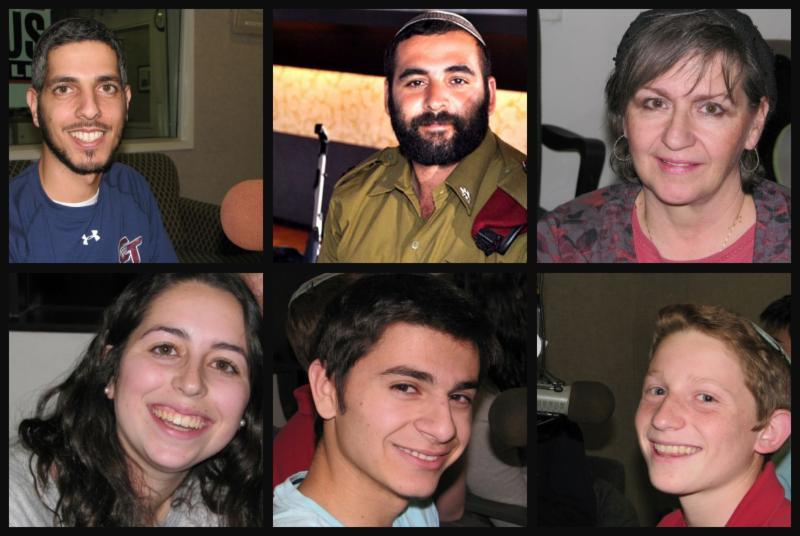 Top Row (l-r): Niso Aharonian, Rabbi Uriel Malka, z'l, and Eliana Azoulay Bottom Row (l-r): Liat Fischer, Josh Khalepari, and Yehuda Alter