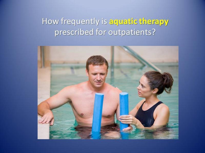 Aquatic therapy statistics