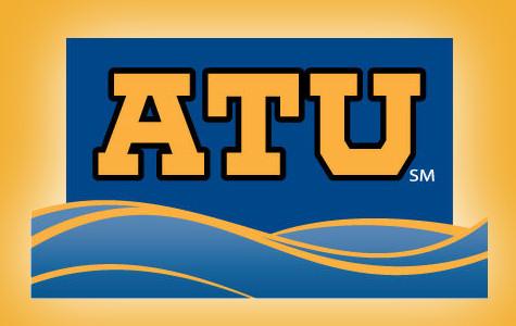 aquatic therapy university logo orange glow