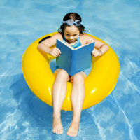 girl on float reading aquatic therapy research bibliography