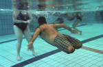 wounded vet in pool
