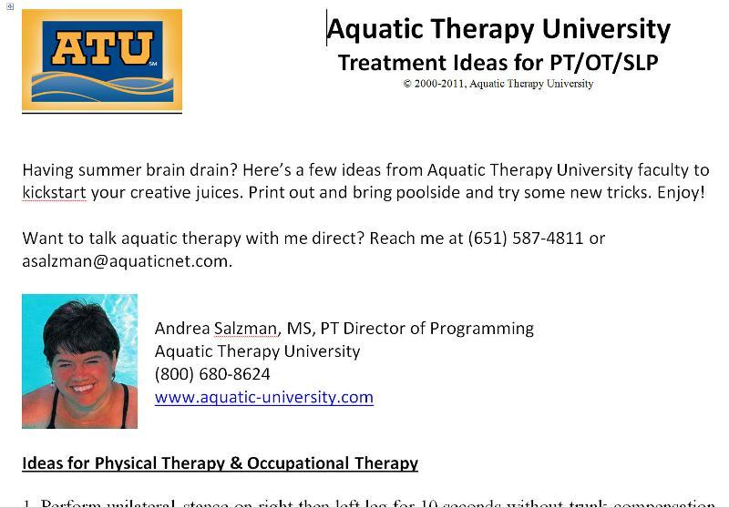 ATU treatment ideas