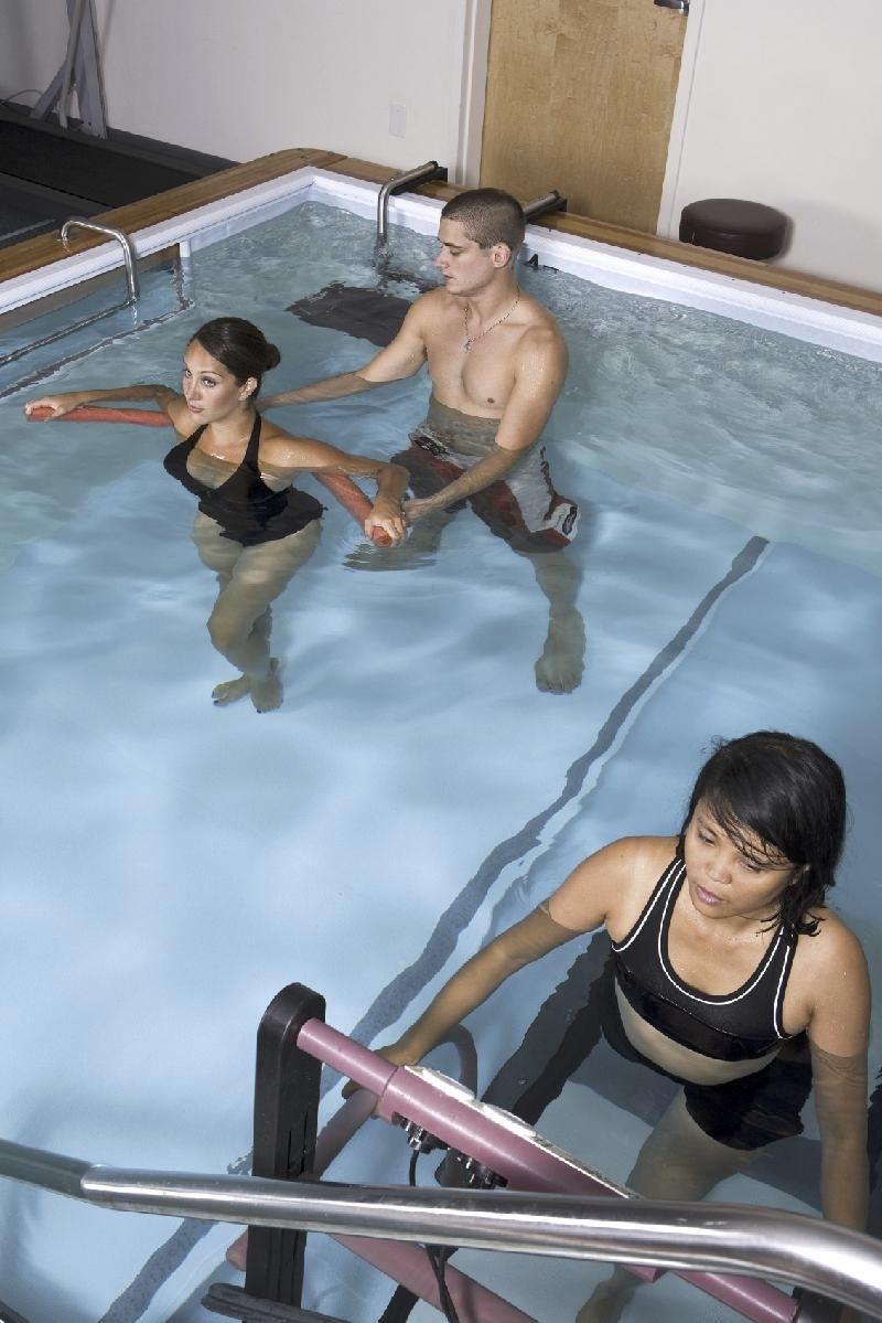Underwater treadmill workout
