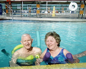 Aquatic exercise during vacation