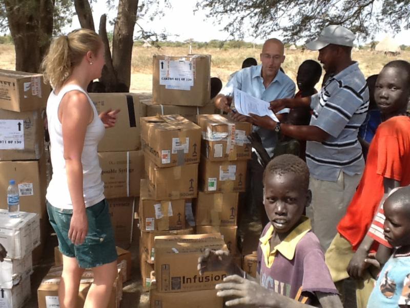 Arrival of Samaritans Purse Supplies in Old Fangak