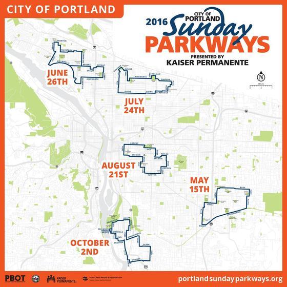 Sunday Parkways Map