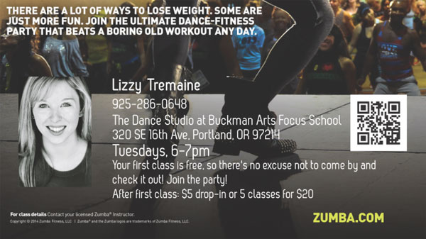 Zumba Classes - Lizzy Tremaine (Instructor)