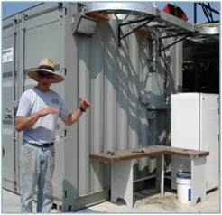 Mr. Frye and poultry litter digester