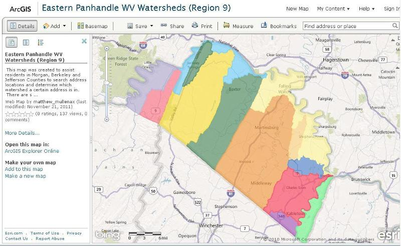 What's My Watershed Map