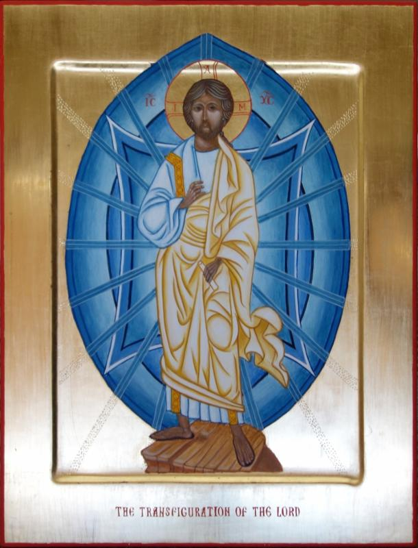 The Transfigured Christ -14x11x1 inches - Egg tempera and gold leaf on gessoed panel