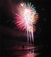 Fireworks vertical