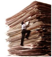 man climbing files