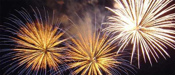 fireworks horizontal banner