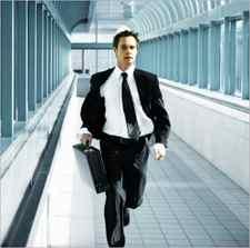 hurrying businessman