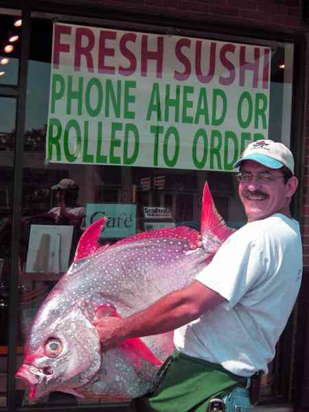 Opah, whole fish at Dirk's