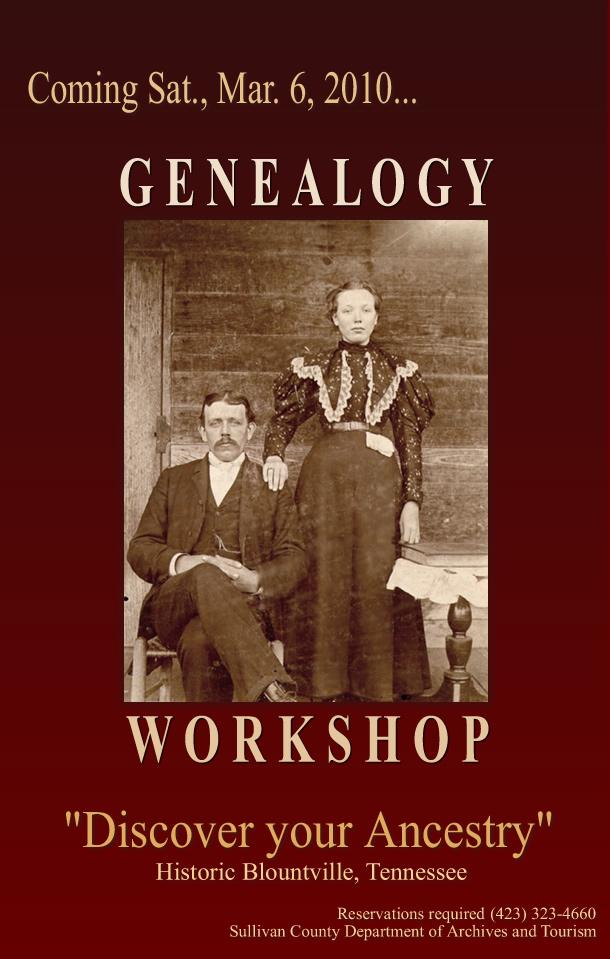 Genealogy Workshop, Sullivan County Archives & Tourism