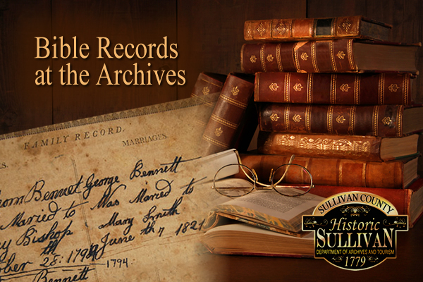 Family Bible Records at Archives