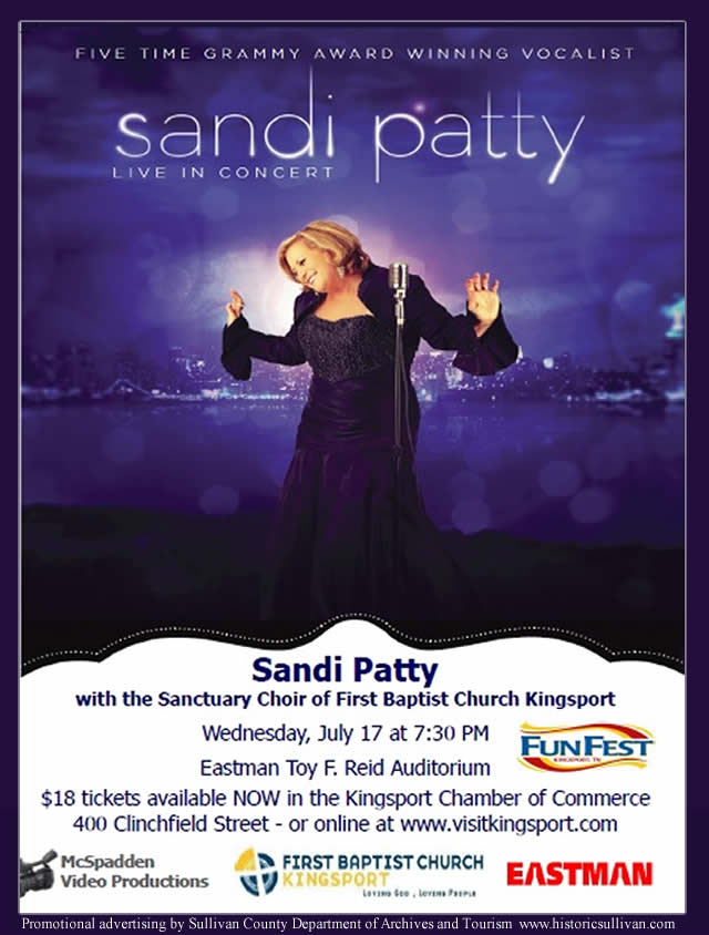 Sandi Patty in Concert at Kingsport, TN