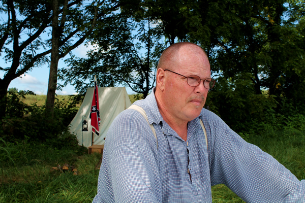 Battle of Blountville Re-enactor, Melvin Perkey
