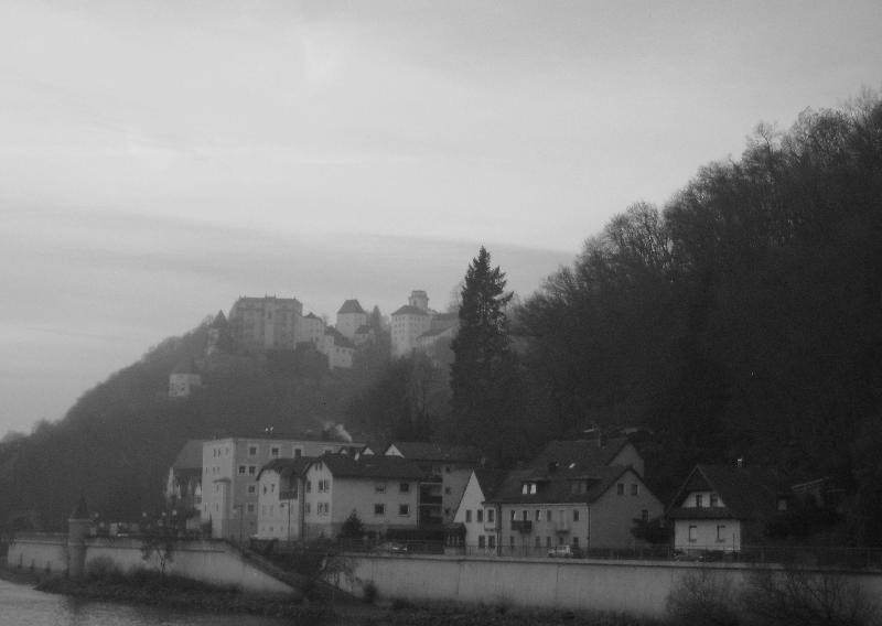 Austrian Village Seen From The Riverboat