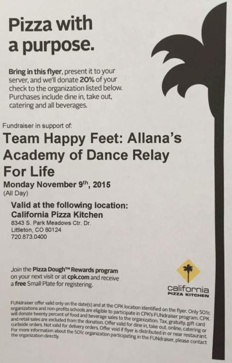 Nov 2015 Cali Pizza Kitchen Fundraiser