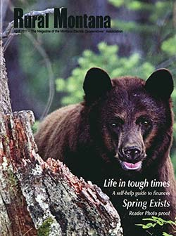 cover of rural montana magazine (it's got a cute bear!).
