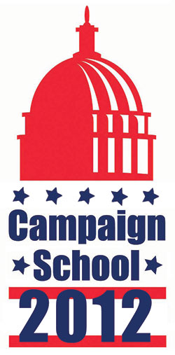 Campaign School 2012 outfitted in a election-ish color and graphic scheme