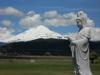 Kannon Bosatsu overlooks Mt Adams