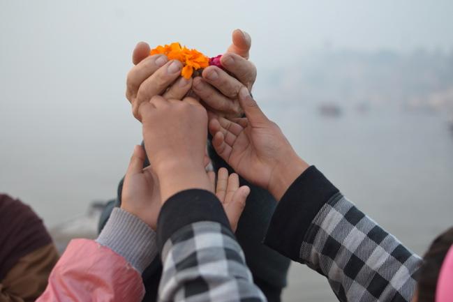 Ganges offering