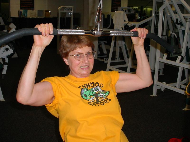 JB Lifting weights