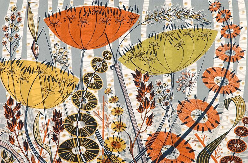Angie Lewin - Spey Birches