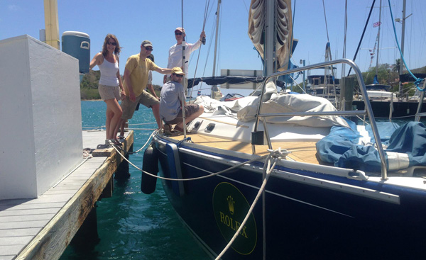 Crew prepares Bermuda High for Rolex