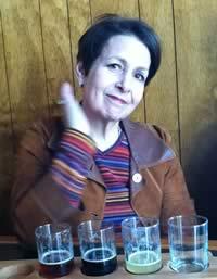 Ben's Mom with Beer