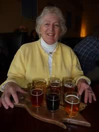 Jon's Mom with Beer
