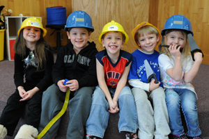 ECLC Kids with hard hats 1
