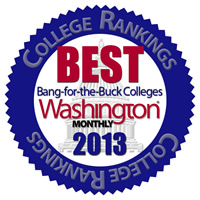 Washington Monthly Best Bang for Your Buck Colleges