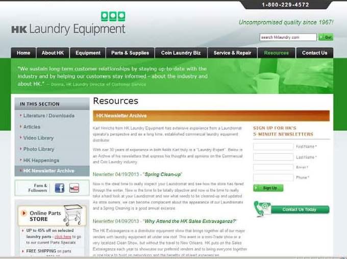 Newsletters Screen Shot