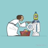 Cartoon R2D2 Washer