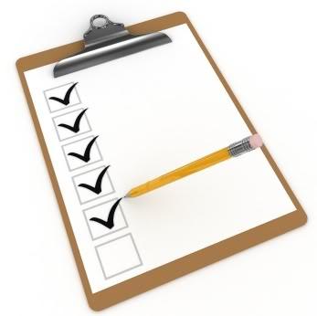 Clip Board - Check list