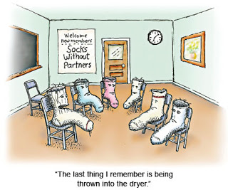 Cartoon Sock Group Therapy