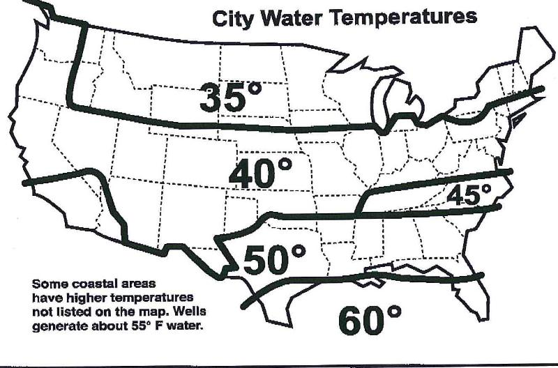 Water Temp Map