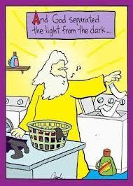 Cartoon God Seperated the Light from the Dark
