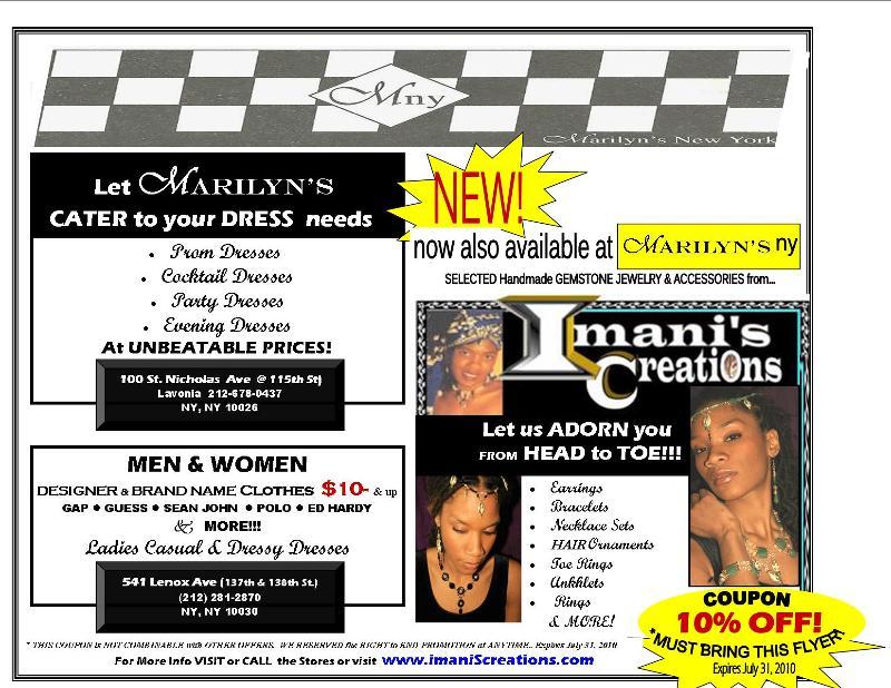 Imani's Jewelry @ MARILYN'S NY