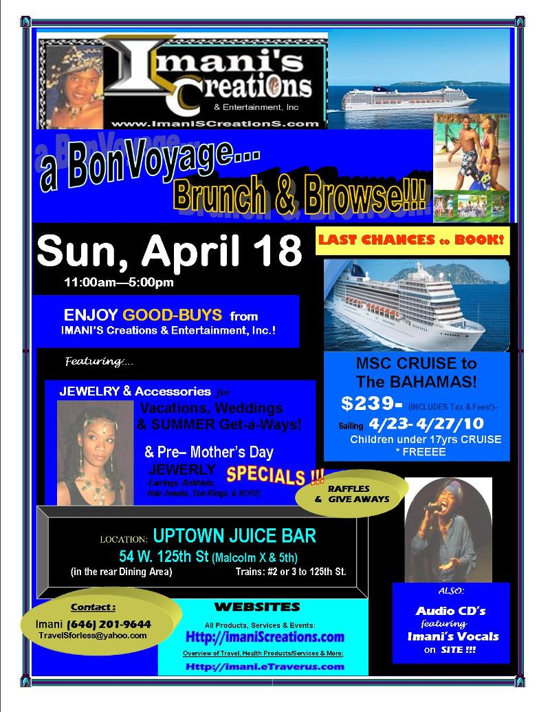 FLYER- Bon VOYAGE Brunch & Browse- Ruth and Imani 2