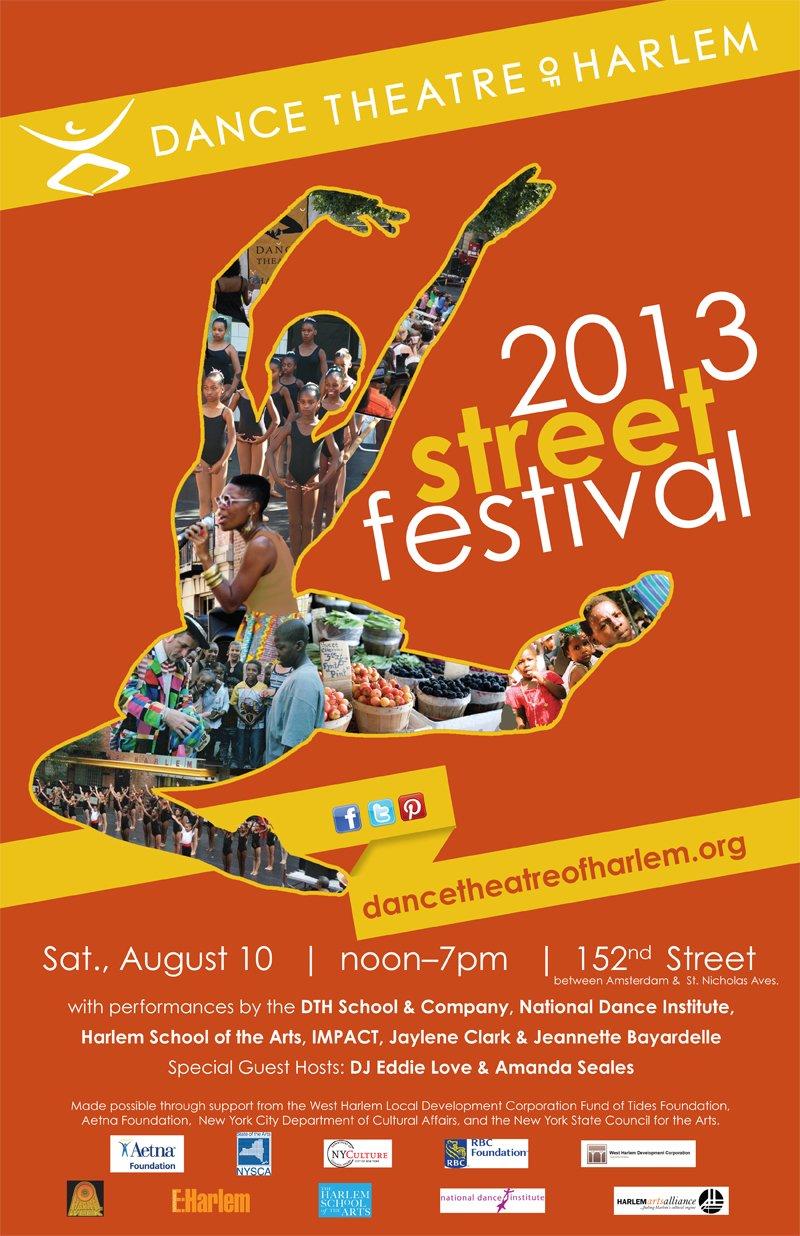 FLYER- DANCE THEATRE of HARLEM FESTIVAL 2013