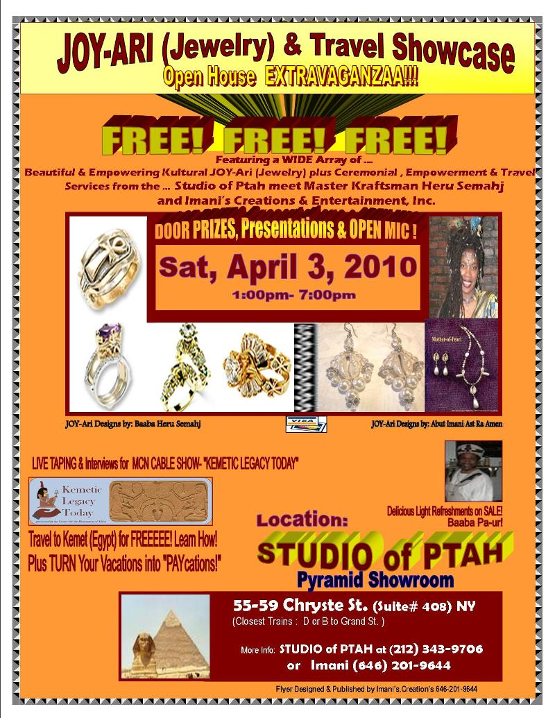 FLYER- Jewelry Showcase at SO PTAH